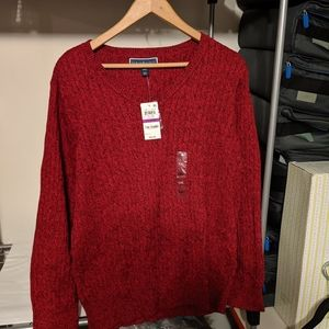 Karen Scott XXL V-Neck Sweater Red NWT